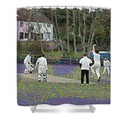 England Club Cricket Shower Curtain