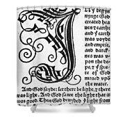 English Bible, 1535 Shower Curtain