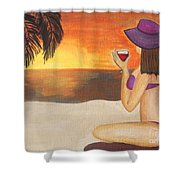 Enjoy The Beach Shower Curtain