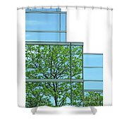Environment Reflected Shower Curtain