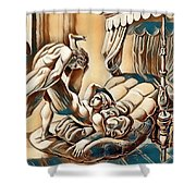 Erotic Abstract Three Shower Curtain