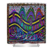 Ethnic Wedding Decorations Abstract Usring Fabrics Ribbons Graphic Elements Shower Curtain