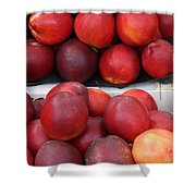 European Markets - Nectarines Shower Curtain