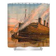 Evening Departure Shower Curtain