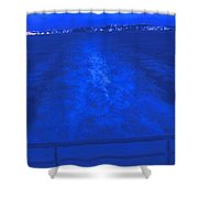 Evening Fast Ferry Shower Curtain
