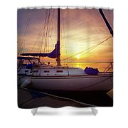 Evening Harbor At Rest Shower Curtain