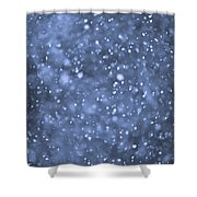 Evening Snow Shower Curtain