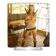 Everglades Cowgirl Shower Curtain