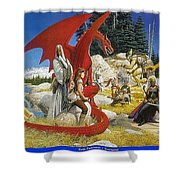 Everquest Abraxsis Keith Parkinson Shower Curtain