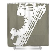 Ewr Newark Liberty International Airport In Newark Usa Runway Si Shower Curtain
