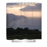 Exmoor Coast At Sunset Shower Curtain