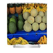 Exotic Fruit Market Shower Curtain