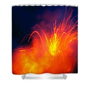 Exploding Lava Shower Curtain by Greg Vaughn - Printscapes