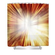 Explosive Background  Shower Curtain