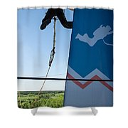 Extreme Sports Ropejumping Shower Curtain