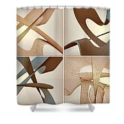 F S - Foursome Shapeallization Shower Curtain