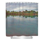 Facing East  Shower Curtain