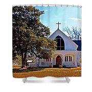 Fairhope Sacred Heart Church Shower Curtain