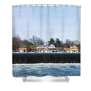 Fairmount Dam - Boathouse Row Shower Curtain