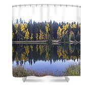 Potty Pond Reflection - Fall Colors Divide Co Shower Curtain