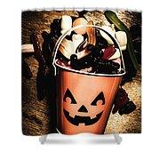 Fall Of Halloween Shower Curtain