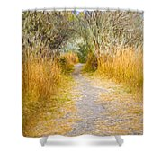 Fall Pathway 3 Shower Curtain