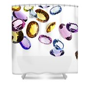 Falling Gems Shower Curtain by Setsiri Silapasuwanchai