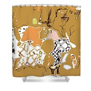 Family Beige Shower Curtain