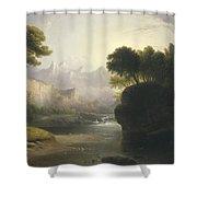 Fanciful Landscape Shower Curtain