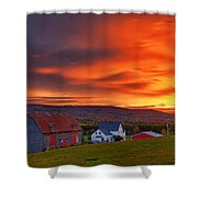 Farm At Sunset In Wentworth Valley Shower Curtain