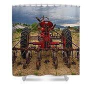 Farmall Tractor Shower Curtain