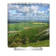 Farmlands. Shower Curtain