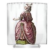 Fashion: French, 1778 Shower Curtain