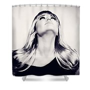 Fashion Women's Portrait Shower Curtain