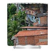 Favela In Salvador Da Bahia Brazil Shower Curtain