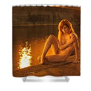 Fawnya Frolic Shower Curtain