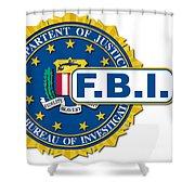 Fbi Seal Mockup Shower Curtain