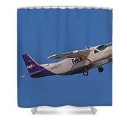 Fedex Airplane Shower Curtain