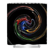 Feel Happy-colorful Digital Art That Can Enhance Your Mood Shower Curtain