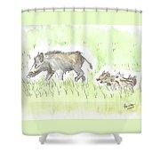 Feral Hogs Shower Curtain