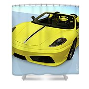 Ferrari 16m Scuderia Spider Shower Curtain