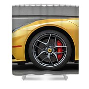 #ferrari #f12 #print Shower Curtain