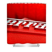 Ferrari Intake Shower Curtain