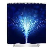 Fiber Optics And Circuit Board Shower Curtain