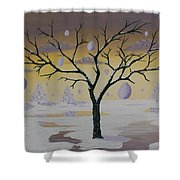 Field Of Potentials Shower Curtain