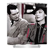 Film Homage Cary Grant Rosalind Russell Howard Hawks His Girl Friday 1940-2008 Shower Curtain