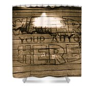 Film Homage Gregg Toland John Ford Henry Fonda The Grapes Of Wrath 2 1940 Ft. Steele Wy 1971-2008 Shower Curtain