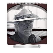 Film Homage Lee Marvin Monte Walsh Collage Variation 2 Old Tucson Arizona 1969-2012 Shower Curtain