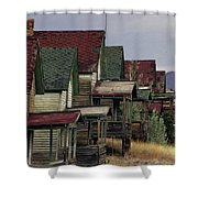 Film Homage Mae Marsh Miner's Coal Company Homes Ghost Town Madrid New Mexico Color 1968-2008 Shower Curtain
