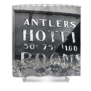 Film Noir Ray Teal Anthony Caruso Scene Of The Crime 1949 Antlers Hotel Victor Colorado 1971-2013 Shower Curtain